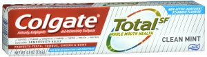 Colgate Total SF Clean Mint Toothpaste Front of Package