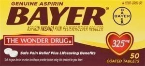 Bayer Aspirin Front of Package