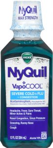 NyQuil VapoCOOL Severe Cold & Flu + Congestion Front of Bottle
