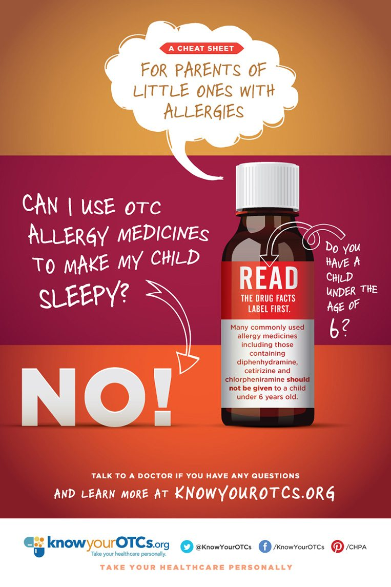 tools about over the counter medicines s knowyourotcs cheat sheet for parents of little ones allergies