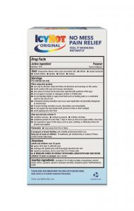 Icy Hot Drug Facts Label